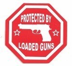 PROTECTED BY LOADED GUNS (2.75)