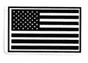 DISTRESSED BLACK & WHITE AMERICAN FLAG (3X2)