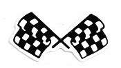 CROSSED CHECKER FLAG (3.25 x 1.75)